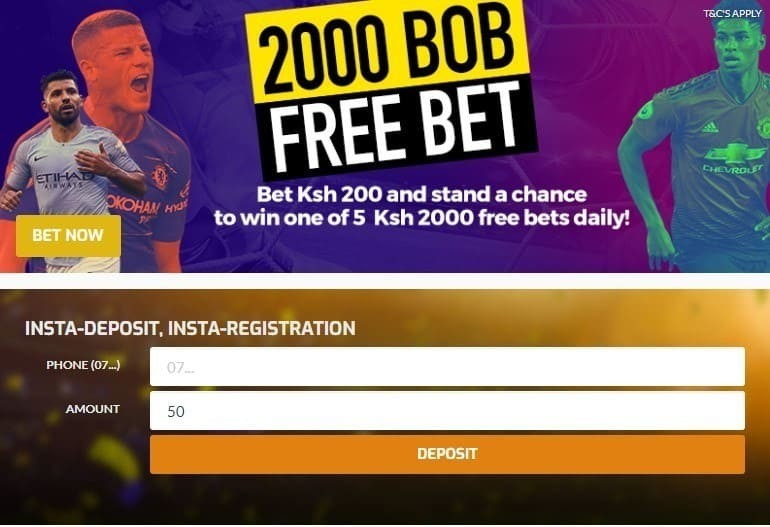 Register to place a bet in BetBoss