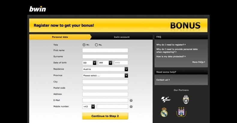 How to bet in Bwin